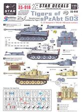 Star Decals 1/35 GERMAN TIGER TANKS OF sPxAbt 503 Generic Turret Numbers Part 1