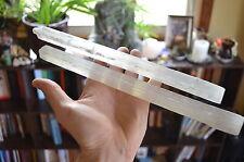 """CL: 2 11""""-12"""""""" Selenite Wands Sticks Platforms Healing Crystal Mineral Specimen"""