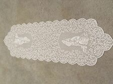 New Christmas White Lace O Holy Night Table Runner. 50 x 14