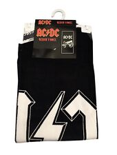 AC/DC Cannon Logo Black 100% Cotton Licensed Beach Bath Oversized Towel NWT