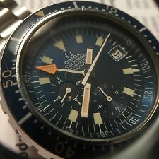 "Vintage Omega Seamaster Chronograph Diver Watch ""Big Blue"" 176.004"