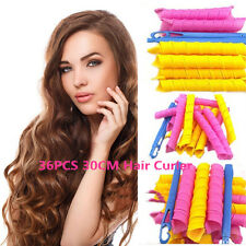 36pcs/set Hair Styling Roller DIY Magic Circle Curler Leverag Stick Spiral Curls