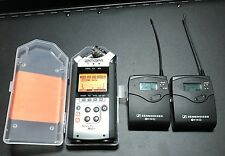 Sennheiser ew100 G3 Wireless Microphone and Zoom H4N Digital Recorder