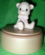 "PRECIOUS MOMENTS FIGURINE   ANIMAL COLLECTION ""TEDDY BEAR""  $40.00 VALUE"