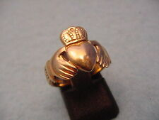 VINTAGE VICTORIAN  Solid 14 KT Gold Heart & Hand Ring