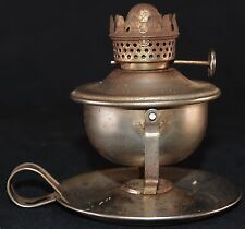 Miniature Nickel Plated Steel Oil Kerosene Lamp Wall Mount or Table Top Vintage