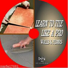 WALL & FLOOR TILING INSTRUCTION DVD TECHNIQUES, TIPS,TOOLS & SKILLS GUIDE NEW