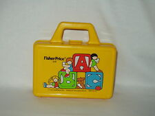 FISHER PRICE vintage little ABC yellow plastic lunch box from 1979 ~~ no thermos