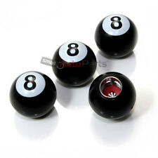 (4) car truck bike ***POOL 8 BALL***  tire/wheel air valve stem CAPS Covers Set