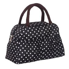 Black and white dots Lunch box bag lunch bags casual handbag small bag handbag