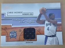 2002-03 Flair Court Kings Game Used #CKCW Chris WEBBER
