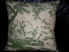 """French Toile De Jouy Farbric Pillow Cushion Cover  100% cotton 20""""x 20"""""""