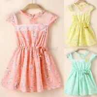 Lovely Nice Baby Kid Girl Lace Floral Princess Dress Party Vogue Dresses Clothes