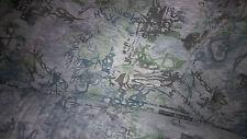 tissu jersey flamme imprimé bleu/gris 100x150 cm