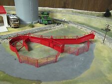 1/64 Custom Scratch-Cast Complete Cattle Corral Set w/ Corral Panels - Red
