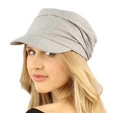 Unisex Summer Cotton Ruched Jersey Crinkle Bunch Cadet Castro GI Cap Hat Gray