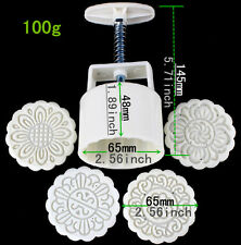 Household Moon cake mold hand pressure 100g One Pieces 4 Round Model
