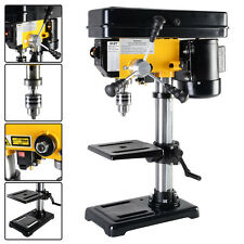 "Electric 450W 10"" 12 Speed 300-2900 RPM Drill Press Bench w/ Laser & LED Light"