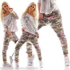 Damen baggy boyfriend Hose ARMY Happyflowers Jeans