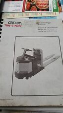 Crown Forklift PC 3000 Series Service & Parts Manual