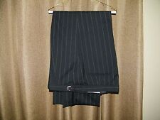 Mens After Six Prom Zoot Suit Black  Pinstripe Tuxedo Pants Preowned Size 51-53