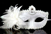 Venetian White Cosplay Masquerade Party/Prom Ball Princess Half Face Mask