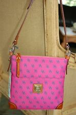 Dooney Bourke LETTER CARRIER GRETTA SIGNATURE PINK messenger Crossbody NWT $188