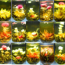 16 KINDS Chinese Art BLOOMING FLOWER FLOWERING JASMINE GREEN TEA BALL