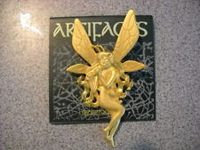 JJ Jonette  Vtg Musical Fairy Nymph with wings gold Brooch Pins mint unused
