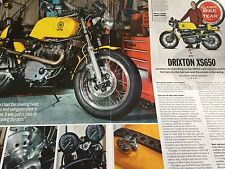 YAMAHA DRIXTON XS650 # 1980 MODEL # 3 PAGE ORIGINAL MOTORCYCLE ARTICLE