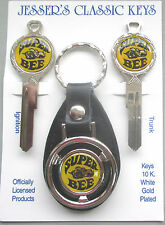 Dodge Super Bee Deluxe Classic 3 pc Key Set 1968 1969 NOS Keys SuperBee