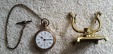 Working 1903 Waltham Pocket Watch w/Chain and Stand