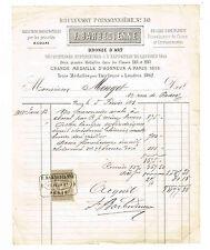 FERDINAND BARBEDIENNE FACTURE EN 1881 UN FAUCONNIER ARABE PAR PIERRE-JULES MENE