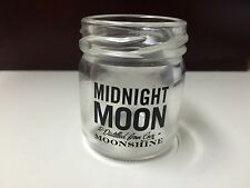 "***NEW***  Set of 4 MIDNIGHT MOON ""MOONSHINE"" mason jar SHOT GLASSES"