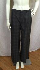 Drykorn For Beautiful People Cotton Charcoal Gray Plaid Wide Leg Trousers Sz. 28