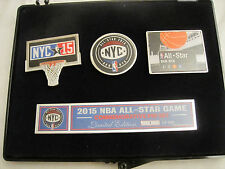 NBA ALL STAR GAME COMMEMORATIVE PIN SET LIMITED EDITION OF 500 BROOKLYN NYC 2015