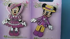 2 PINS DISNEY DISNEYLAND PARIS : MICKEY MINNIE PRINTEMPS