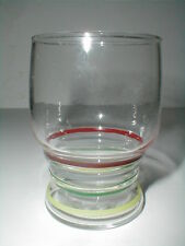Libbey Fiesta Striped Bands Juice Glass Tumbler/s