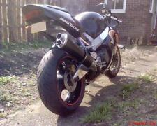 Honda CBR900 Fireblade 96-99 Black Tri-oval twin outlet ROAD LEGAL MTC Exhaust