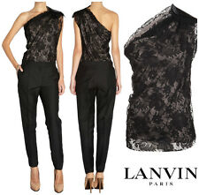 LANVIN  RUNWAY BOW ONE SHOULDER  FLORAL LACE TOP  Sz  8/ 40 NWT  $ 2,205.