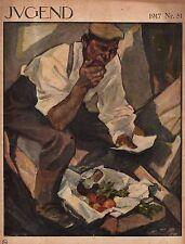 1917 Jugend December 22 Original German Art - Von Kalckreuth, Hoefi, Diez, Benz