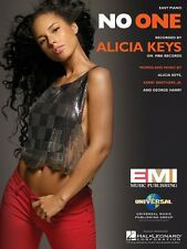 No One Sheet Music Easy Piano Alicia Keys NEW 000110157