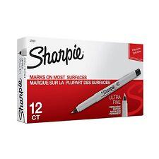 Sharpie Black Ultra Fine Permanent Marker 12 ea # 37001