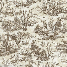 Paris Rendezvous  Cream French Toile  Timeless Treasures Fabric  1/2 Yard