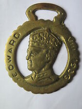 HORSE BRASS of EDWARD VIII 1936 but HORSE BRASS APPEARS MADE LATER c1970s