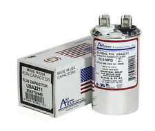 20 MFD x 370 / 440 VAC Round Run Capacitor AmRad USA2211 - Made in the USA