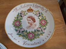 Vintage Queen Elizabeth II Coronation Plate 1953 - Made by Tuscan