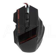 MOUSE OTTICO NERO USB CON FILO GAMING OTTIMO PER GIOCHI PC 7 TASTI SCROLL 3200dp