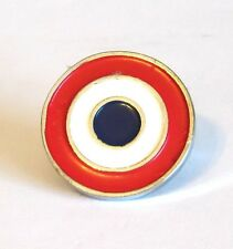 "'Javelin' ""Bulls-eye"" metal emblem, 1"" width/ height, new w/2 mounting tips"