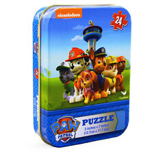 """Nickelodeon Paw Patrol Is On A Roll  24 Piece 5"""" x 7"""" Puzzle In  Collector Tin"""